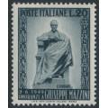 ITALY - 1949 20L grey-black Giuseppe Mazzini Memorial, MNH – Michel # 777