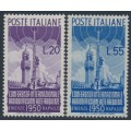 ITALY - 1950 International Radio Conference set of 2, MH – Michel # 796-797
