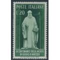 ITALY - 1950 20L deep green Guido d 'Arezzo, MNH – Michel # 799
