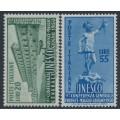 ITALY - 1950 UNSESCO set of 2, MNH – Michel # 791-792