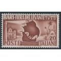 ITALY - 1950 20L red-brown Levante Fair, MNH – Michel # 800
