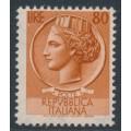 ITALY - 1953 80L orange-brown Italia Turrita, MH – Michel # 891