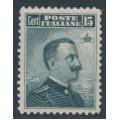 ITALY - 1911 15c slate King Vittorio Emanuele III, MH – Michel # 104