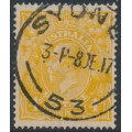 AUSTRALIA - 1917 4d pale orange-yellow KGV Head, single watermark, used - ACSC # 110E