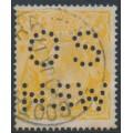 AUSTRALIA - 1917 4d pale orange-yellow KGV Head, perf. OS NSW, used – ACSC # 110Eb