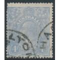 AUSTRALIA - 1923 4d bright ultramarine KGV Head, inverted single watermark, used – ACSC # 113Aaa