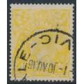 AUSTRALIA - 1916 4d lemon-yellow KGV Head, single watermark, used – ACSC # 110C