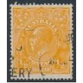 AUSTRALIA - 1923 ½d bright orange KGV Head, single watermark inverted, used – ACSC # 66Ba