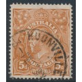 AUSTRALIA - 1915 5d chestnut KGV, single watermark, SLP,  'break in frame behind Emu', used – ACSC # 122Ai