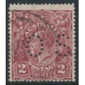 AUSTRALIA - 1927 2d pale red-brown KGV Head, SM watermark, p.14¼:14, perf. OS, used – ACSC # 98Aba