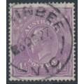 AUSTRALIA - 1924 4½d mauve [aniline] KGV Head, single watermark, used – ACSC # 118F