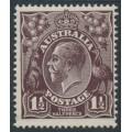 AUSTRALIA - 1918 1½d black-brown KGV Head, single watermark, MNH – ACSC # 83A