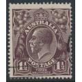 AUSTRALIA - 1918 1½d black-brown KGV Head, inverted single watermark, used – ACSC # 83Aa