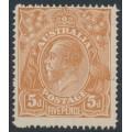 AUSTRALIA - 1915 5d pale chestnut KGV Head, single watermark, SLP, 'break in frame', MH – ACSC # 122A