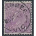 AUSTRALIA - 1924 4½d mauve (aniline) KGV Head, single watermark, used – ACSC # 118F