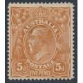 AUSTRALIA - 1915 5d chestnut KGV, single watermark, SLP, 'spot on LVT', MH – ACSC # 122A