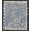AUSTRALIA - 1922 4d deep dull blue KGV Head, single watermark, MH – ACSC # 112C