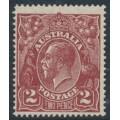 AUSTRALIA - 1927 2d red-brown KGV, SM watermark, p.14¼:14, MNH – ACSC # 98A