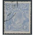 AUSTRALIA - 1923 4d bright ultramarine KGV Head, inverted watermark, used – ACSC # 113Aaa