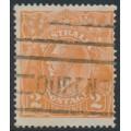 AUSTRALIA - 1920 2d orange KGV Head, single wmk, variety 'retouched GE [state II]' – ACSC # 95E(6)ha