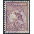 AUSTRALIA - 1929 2/- maroon Kangaroo, SM watermark, used – ACSC # 39A
