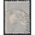 AUSTRALIA - 1915 6d milky greyish blue Kangaroo, die II, 3rd watermark, used – ACSC # 19F