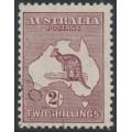 AUSTRALIA - 1935 2/- maroon Kangaroo (original die), CofA watermark, CTO – ACSC # 40Aw