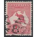 AUSTRALIA - 1913 1d red Kangaroo, die II with the variety 'substituted cliché', used – ACSC # 3A(E)db