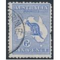 AUSTRALIA - 1913 6d ultramarine Kangaroo, 1st watermark, CTO – ACSC # 17Awb
