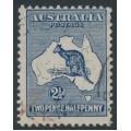 AUSTRALIA - 1915 2½d indigo Kangaroo, 2nd watermark, used – ACSC # 10A