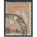 AUSTRALIA - 1932 6d chestnut Kangaroo, CofA watermark, used – ACSC # 23A