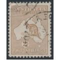 AUSTRALIA - 1915 2/- light brown Kangaroo, 2nd watermark, used – ACSC # 36A