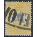 AUSTRALIA - 1918 5/- grey/yellow Kangaroo, 3rd watermark, used – ACSC # 44C