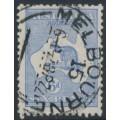 AUSTRALIA - 1921 6d bright ultramarine Kangaroo, die IIB, 3rd watermark, used – ACSC # 20A