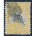AUSTRALIA - 1913 5/- grey/yellow Kangaroo, 1st watermark, used – ACSC # 42B