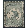 AUSTRALIA - 1915 2d deep grey Kangaroo, die I, inverted 3rd watermark, used – ACSC # 7Aa