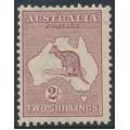 AUSTRALIA - 1924 2/- maroon Kangaroo, 3rd watermark, MH – ACSC # 38A