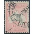 AUSTRALIA - 1932 10/- grey/pink Kangaroo, CofA watermark, 'weeping Kangaroo', used – ACSC # 50A(V)l