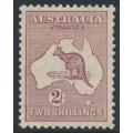 AUSTRALIA - 1929 2/- maroon Kangaroo, SM watermark, MH – ACSC # 39A