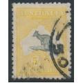 AUSTRALIA - 1915 5/- deep grey/chrome Kangaroo, 2nd watermark, used – ACSC # 43B