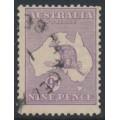 AUSTRALIA - 1915 9d pale violet Kangaroo, 2nd watermark, used – ACSC # 25B