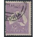 AUSTRALIA - 1919 9d violet Kangaroo, die IIB, 3rd watermark, used – ACSC # 27A