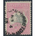 AUSTRALIA - 1913 10/- grey/pink Kangaroo, 1st watermark, used – ACSC # 47A