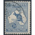 AUSTRALIA - 1917 2½d pale blue Kangaroo, 3rd watermark, used – ACSC # 11A