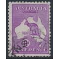 AUSTRALIA - 1919 9d bright red-violet [aniline] Kangaroo, die IIB, 3rd watermark, used – ACSC # 27E