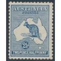 AUSTRALIA - 1917 2½d pale bright blue Kangaroo, 3rd watermark, MH – ACSC # 11E