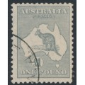 AUSTRALIA - 1935 £1 grey Kangaroo, CofA watermark, used – ACSC # 54