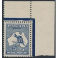 AUSTRALIA - 1913 2½d indigo Kangaroo, 1st watermark, MNH – ACSC # 9A