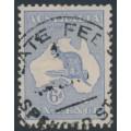 AUSTRALIA - 1915 6d dull ultramarine Kangaroo, die II, 3rd watermark, used – ACSC # 19A