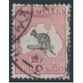 AUSTRALIA - 1930 £2 grey/pale rose-crimson Kangaroo, SM watermark, used – ACSC # 57B